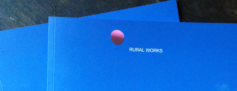 <b><i>NEWS:</i> </b> <i>Corwen 'Rural Works' Publication Now Launched....</i>
