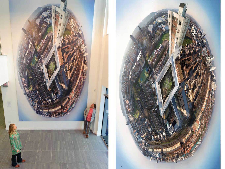<i><b>Image:</b></i> <i>Axis</i>, a 5.8m x 3.6m photographic installation @Loudoun Square, Anna Heinrich & Leon Palmer, 2012 © CCHA