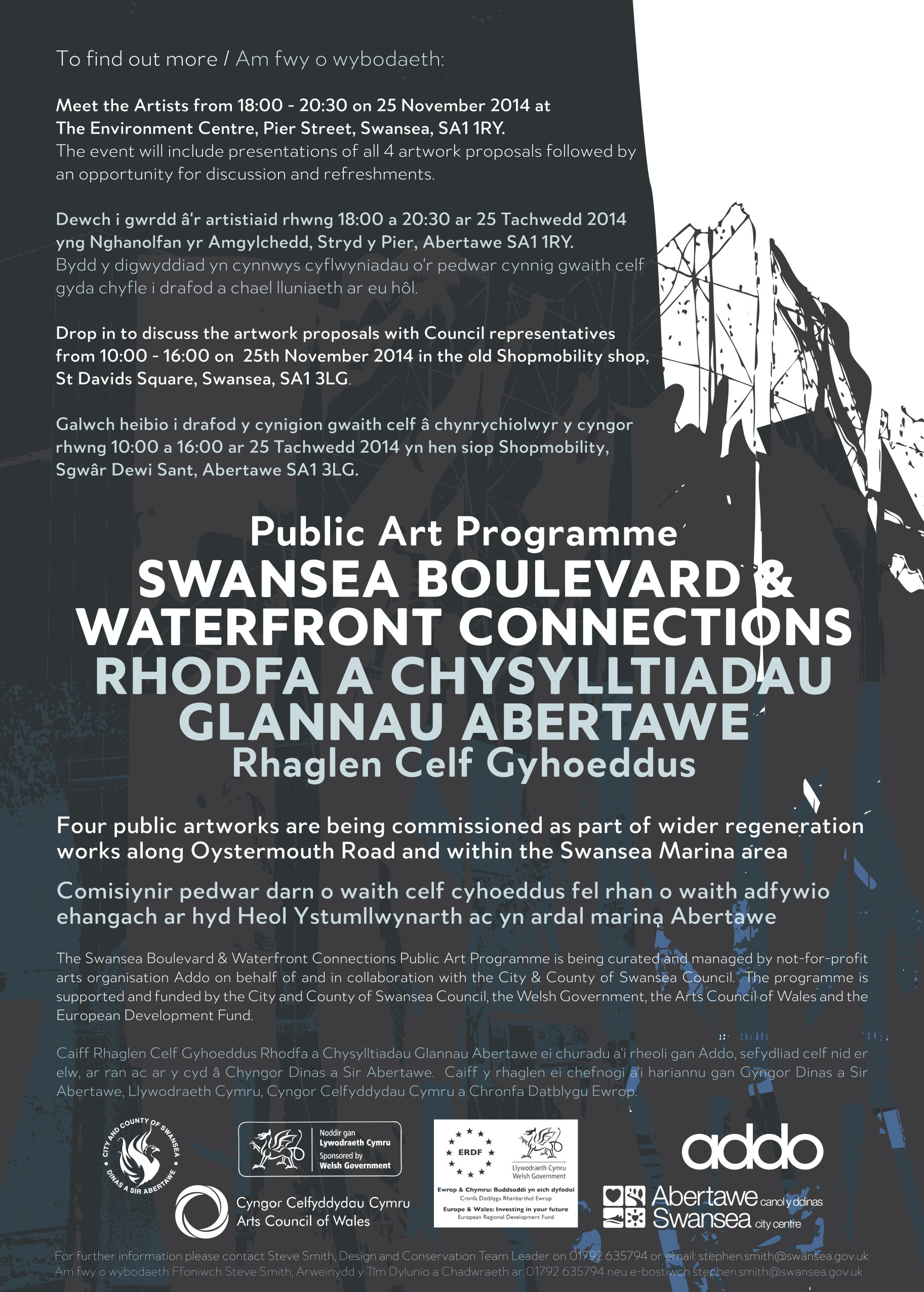 Find out more about the Swansea Boulevard & Waterfront Connections Public Artworks