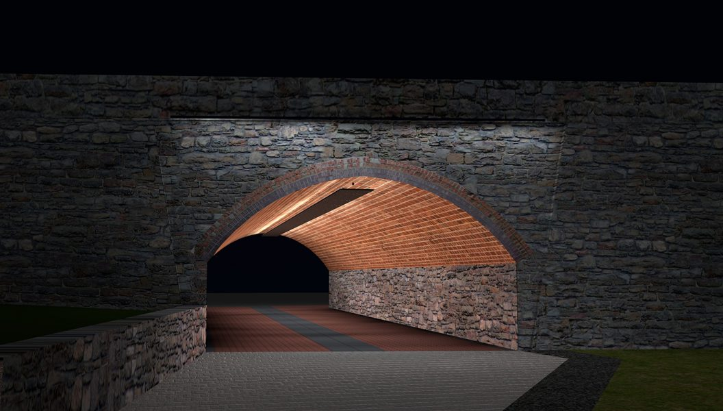 <i><b>Image:</b> Light and Sound Intervention for Paxton Street Pedestrian Tunnel, William Dennisuk, 2014. </i>