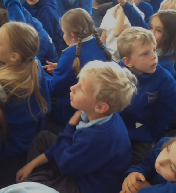 <b>Image: </b><i>Pupils at Pembrey Primary School</i>, 2017