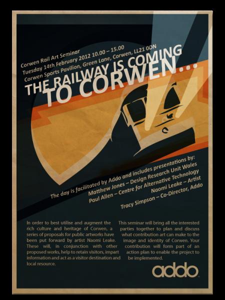 <i><b>Image:</b> Corwen Seminar Poster, 2012. </i>