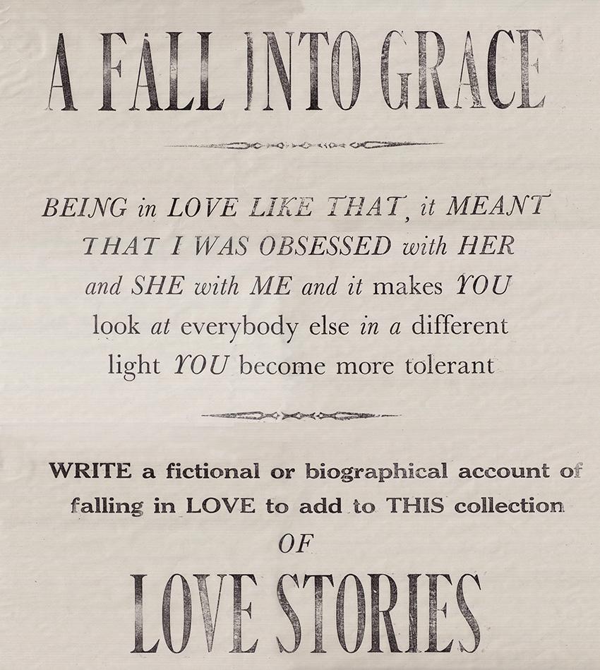 <i><b>Image:</b> Promotional Letterpress Poster for 'A Fall into Grace', Jackie Chettur, 2014</i> © Jackie Chettur.