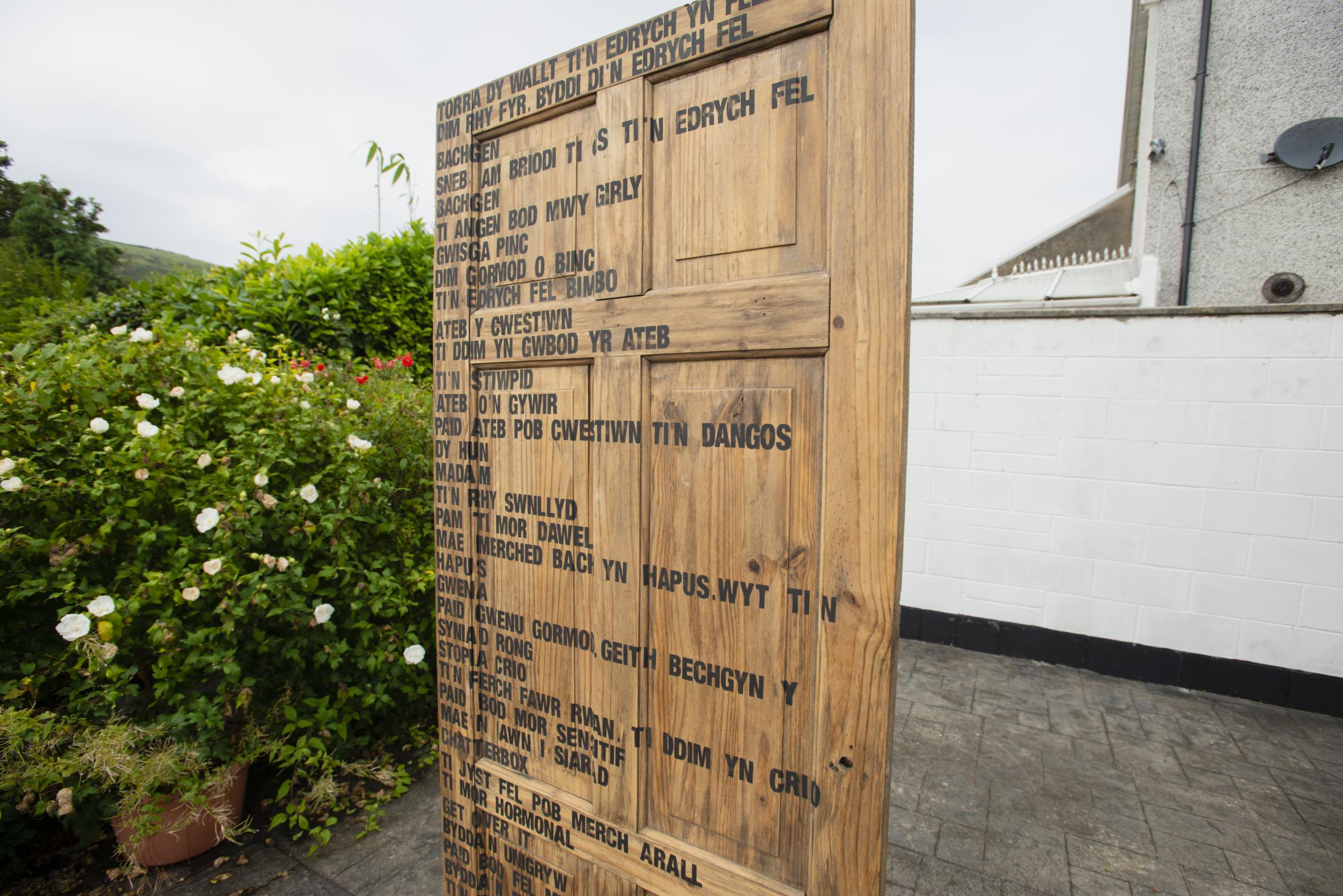 <i><b>Llun | Image:</b> Tro am Oriel Graig y Fedw yng ngardd yr artistiaid Fflur a Garmon yn Abertridwr | Visiting Oriel Graig y Fedw, in artists Fflur & Garmon's garden in Abertridwr, Rufus Mufasa, 2021. </i>